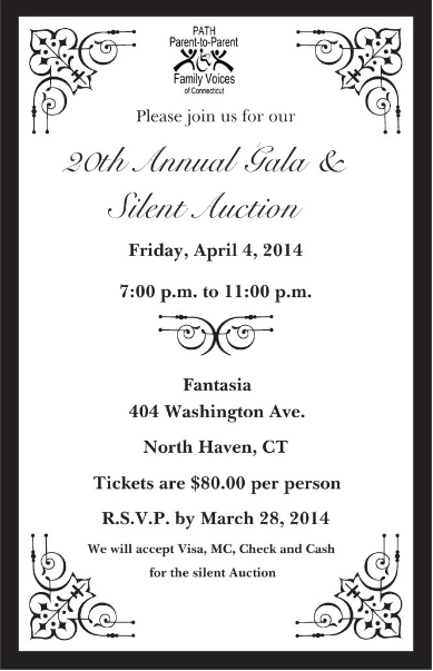 2014 Gala Event Invitation
